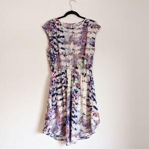COLLECTIVE CONCEPT Katelynn Printed Dress Large